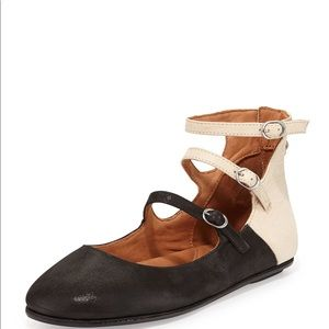 Gentle Souls Bay All Day Suede Flat Ankle Wrap